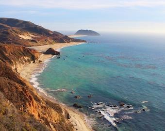 Coastal Waters of Big Sur, Mountains, Blue Water, Coastline, Central Coast, California