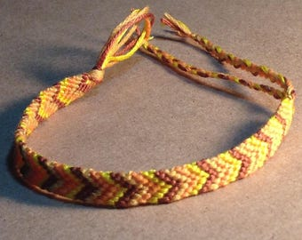 Chevron fall bracelet