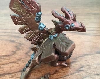 Steampunk Dragon Handmade Figure