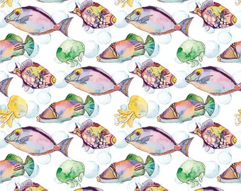 Fish Of TheTropics - Ceramic Decals- Enamel Decal - Fusible Decal - Glass Fusing Decal ~ Waterslide Decal - 34143689