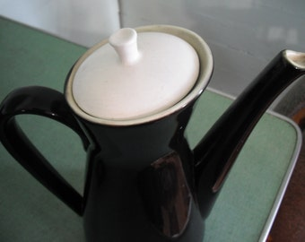 Black and White, chocolate pot, coffee pot, vintage, retro, atomic