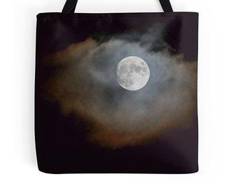 Black tote, black bag, photo tote, college bag, school bag, shopping bag, reusable bag, shoulder bag, grocery bag, book tote, market bag