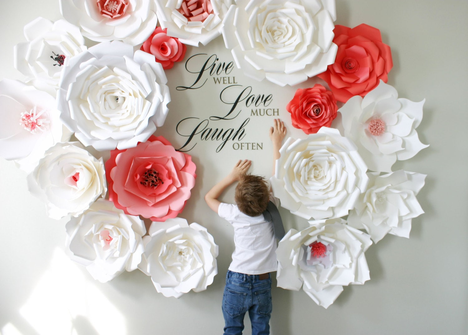 Paper flower wall wedding geccetackletarts paper flower wall wedding mightylinksfo