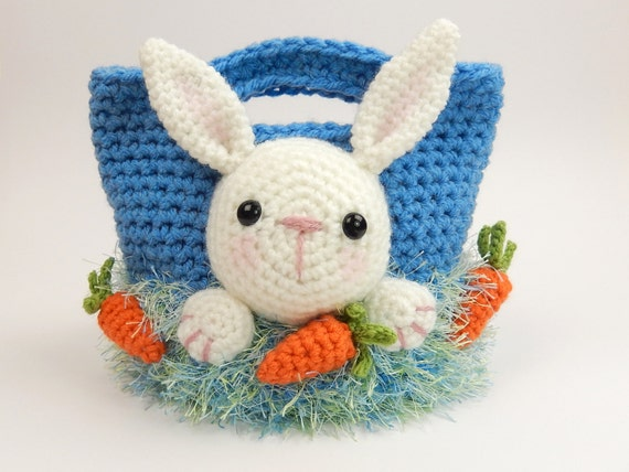 Bunny Easter Treat Bag Crochet Pattern