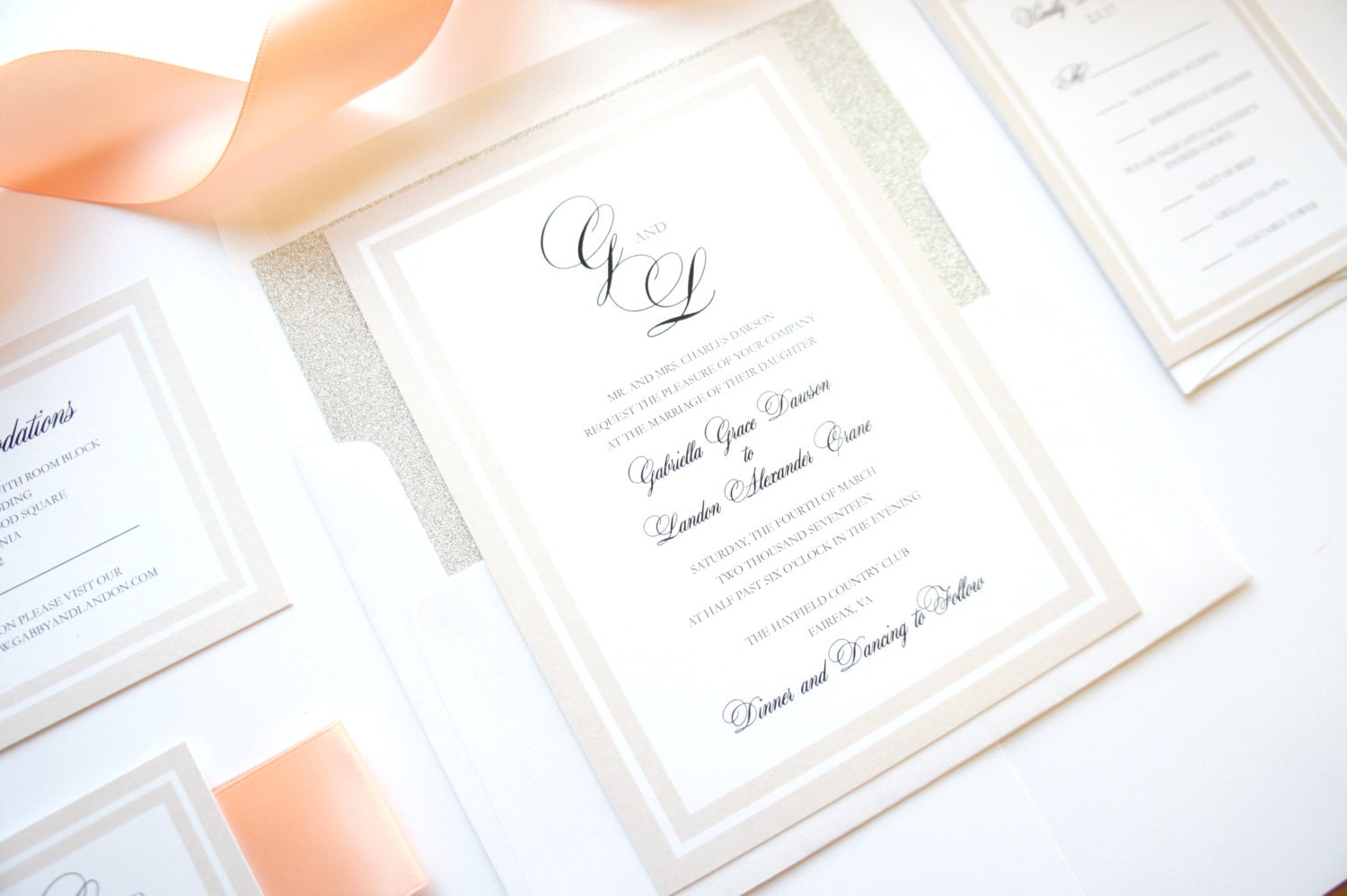 Elegant Wedding Invitation Timeless Wedding Invitations