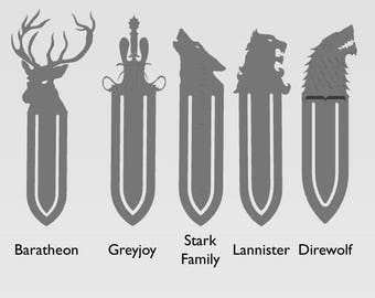 Game of Thrones Bookmark | GOT | Unique Bookmark | 3D Printed | Dire Wolf | House Stark | John Snow | gameofthrones | Tyrion Lannister