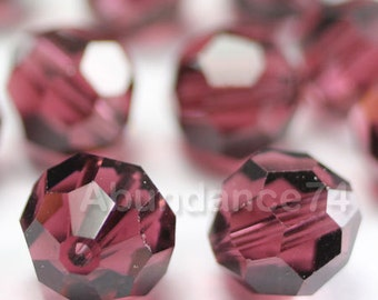 Swarovski Elements Crystal Beads 5000 Round Ball Beads BURGUNDY - Available in 6mm and 8mm