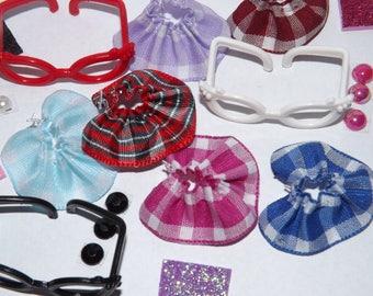 Littlest pet shop clothes lps Accessories 4pc random nerd *cat/dog not included*