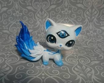 Lps cat custom blue white