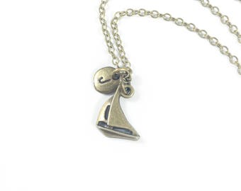Sailing Necklace, Sailboat Necklace, Boat Necklace, Nautical Jewelry, Memorial Jewelry, Loss of Loved One Sympathy Gift Sailing Gift for Her