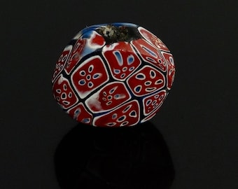 V016- An antique tabular millefiori bead