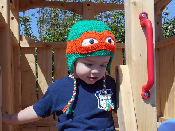 Ninja Turtle Hat Crochet Pattern Tmnt Nb To Adult From