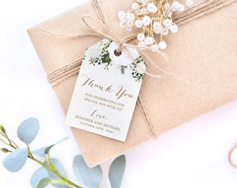 Thank You Tag Template, Wedding Thank You Tags, Wedding Favor Tags, Gift Tags, Favor Tags, INSTANT Download PDF Template #CL112