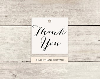 Thank You Tags printable template Thank You printable tags - Instant Download | 2x2 inch | Any colours | Sweet Bomb | Editable template tags