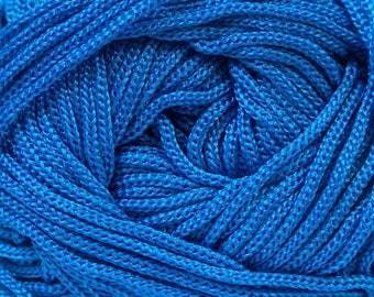 400 gr Polyester Macrame Cord, Blue Beading Cord, 3mm  Braided Cord DIY Macrame, Jewelry Cord, Polyester Macrame Rope,  Non Waxed, Cord Bulk