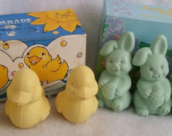 Vintage Avon Soaps ~ Bunnies and Ducks ~ New in Box