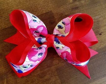 """My Little Pony Large Red 5.5"""" - 6"""" Girls Hair Bow New with Clip"""