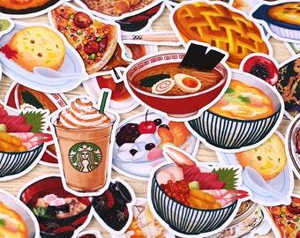 32 pcs  Food Stickers planner stickers Erin Condren die cut watercolor stickers T157