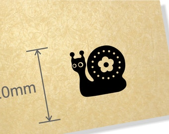 Clear Acrylic stamp, Snail stamp