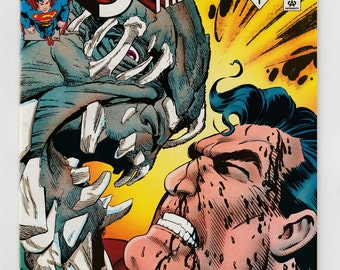 Superman: Man of Steel #19 Doomsday Character Battle Story DC Comics Vintage 1993 Comic Book-Death of Superman Storyline-Louise Simonson