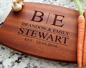 Personalized Cutting Board - Engraved Cutting Board, Custom Cutting Board, Wedding Gift, Housewarming Gift, Anniversary Gift W-009 GB