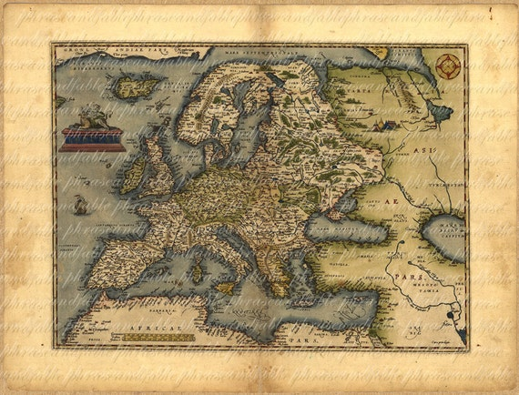 Map of europe from 1500s 081 ancient old world cartography gumiabroncs Gallery