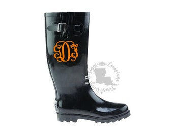 Rainboot Monograms / Rain Boot Monograms / Monogrammed Rainboots / Monogrammed Rain Boots / Rain Boot Decals / Personalized Rain Boots