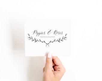 Pre Made Logo Design - Feminine logo , Logo Design, Brand Design, Business Logo, Photography Logo, Boutique Logo, Hand Drawn Logo