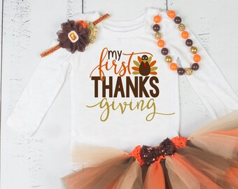 THANKSGIVING Girls Outfit,Thanksgiving Baby Tutu outfit,Thanksgiving Tutu,My First Thanksgiving,Girls Thanksgiving Outfit,First Thanksgiving