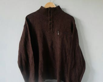 U.P RENOMA Uniforme Prestige Button Up Sweatshirts Jumper Pullover Hip Hop Rare!! Vintage
