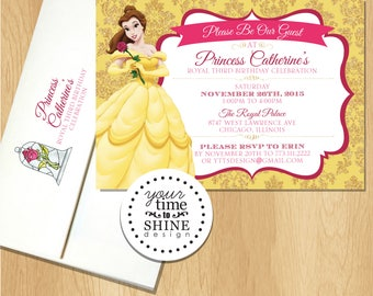 Belle Invitations with Envelopes