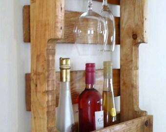Wine rack wall simple cut top