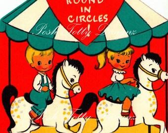 Carousel of Love Vintage Digital Download Images (79)
