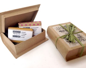 Field Guide Soap Gift Set - Nature, Book Lover, Outdoors, Skincare.