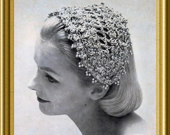 Vintage Crochet hat 1957 PDF easy pattern headband