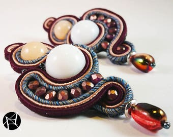 Elegant Model-soutaches Earrings-soutaches Earrings-handmade Earrings-hand-made earrings-pendant earrings-Elegant earrings