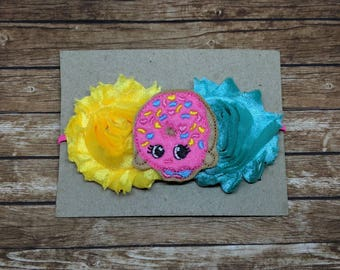 Shopkins headband-newborn photography - hair clip - headband - hair bow - infant