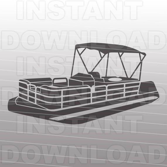 Perfect Pontoon Boat SVG File,Boating SVG File,Boat Life SVG-Vector Clip  BL31