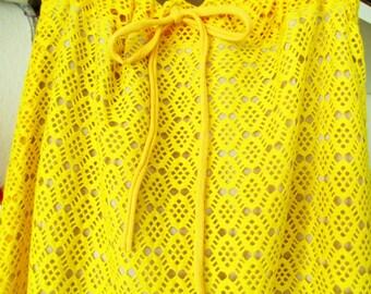 Skirt, Lace skirt, yellow, summer skirt, lace skirt, yellow skirt, Festival skirt, maxi skirt, midi skirt, festival skirt, Boho skirt,