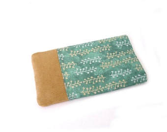 Smartphone Sleeve, Skin for iPhone, Galaxy S5, S6 Edge, S7, Wiko, Xperia, iPhone 6s,  Galaxy mini, Nexus, Lumia, HTC, green, beige
