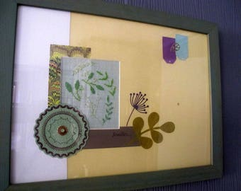"""Table """"leaves..."""" scrapbooking layout way"""
