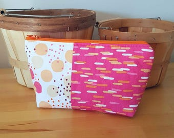 Cosmetic Bag, Makeup Bag, Make Up Bag, Washup Bag, pink