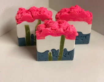 Cactus Flower Soap / Artisan Soap / Handmade Soap / Soap / Cold Process Soap