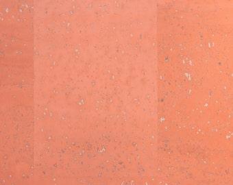 Natural Cork Fabric - Peach