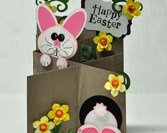 Happy Easter Bunny Cascading Card