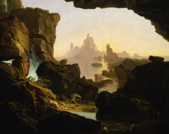 Thomas Cole: The Subsiding Of The Waters Of The Deluge. Fine Art Print/Poster. (4885)