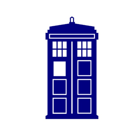 dr who tardis police call box vinyl decal rh etsy com dr who birthday clipart doctor who clipart