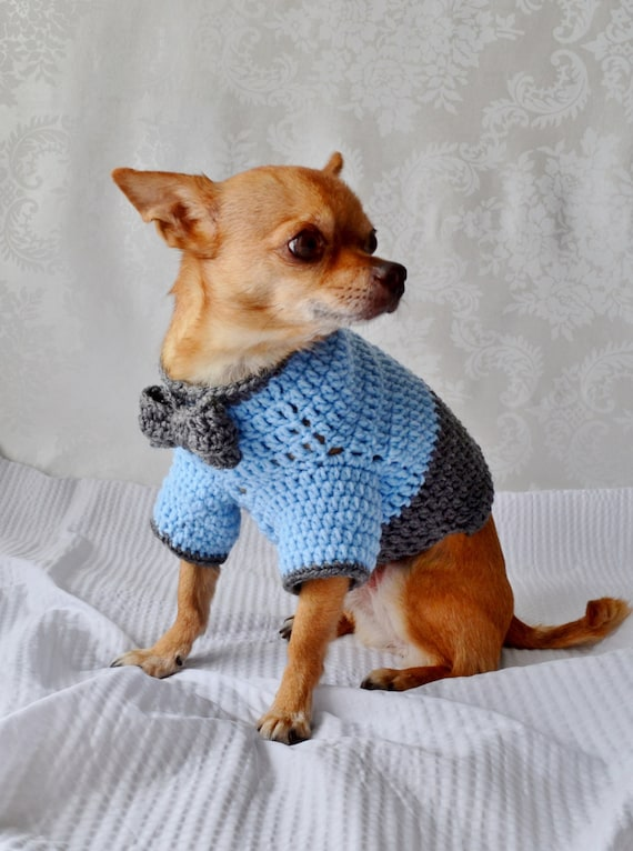 Crochet Dog Sweater Dog Sweater With Bow The Oxford Dog