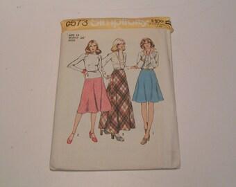 Vintage Simplicity Pattern 6573 Miss Bias Skirt in three lengths