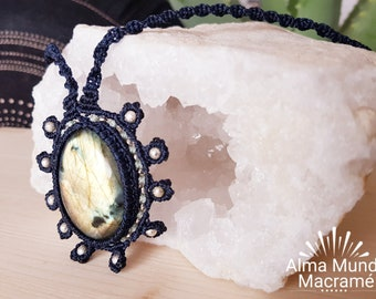 Labradorite Heart Necklace